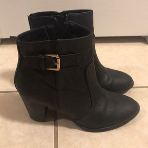 H&M Genuine Leather Ankle Boots